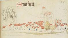 « Registre d'armes » ou armorial d'Auvergne, dédié par le hérault Guillaume REVEL au roi Charles VII.  Date d'édition :  1401-1500  Français 22297  Folio 323
