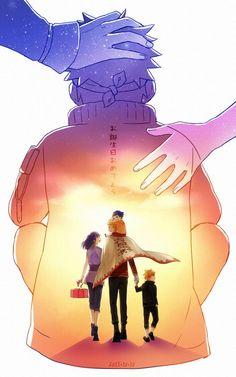 Naruto ~Naruto e sua família com Hinata~