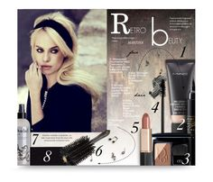 """Retro Beauty"" by thewondersoffashion ❤ liked on Polyvore featuring beauty, Duffy, Illamasqua, MAC Cosmetics, Estée Lauder, Ouidad, Oribe and Christian Dior"