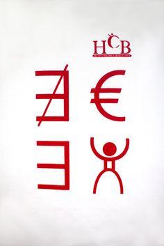 """""""No existe el dinero, existe el hombre"""".  Con este dibujo hemos querido simbolizar la prioridad del potencial humano sobre el materialismo económico y está dedicado a todos los jovenes que luchan cada día para sus sueños.   http://www.helpchildrenbcn.com/product/camiseta-euro/"""