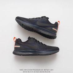 aeb70875dd047 Fsr Nike Air Zoom Pegasus 34 Mesh Breathable Racing Shoes Mens Black Wolf  Grey   Coal Black   Black