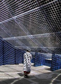 Pavilion of Light Sound by Shigeru Ban for cle de peau beaute Venice Biennale 2015   Yellowtrace