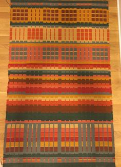 Barbara Pickel - blanket woven at Vavstuga class with Lisa Hill. Cottolin warp and Tuna wool weft.