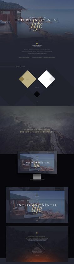 Intercontinental Hotel Website - Behance #ui #ux #userexperience #website #webdesign #design