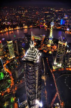 Jinmao Tower, Shanghai. I had dinner here! Shanghai is one of my favorite cities in the world