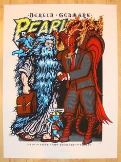 Pearl Jam w/ X - silkscreen concert poster (click image for more detail) Artist: Ames & Brad Klausen Venue: O2 World Location: Berlin, Germany Concert Date: