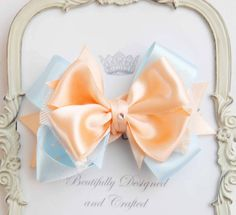 Hey, I found this really awesome Etsy listing at https://www.etsy.com/listing/182533162/light-blue-lace-and-peach-hair-bow