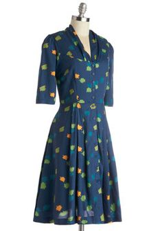 Star Studded Performance Dress in Leaves, #ModCloth