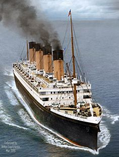 RMS Olympic steaming Full Ahead just after she was fitted out with sufficient number of lifeboats after the Titanic disaster Rms Titanic, Titanic History, Ancient History, Titanic Drawing, Bateau Yacht, Cunard Ships, Titanic Artifacts, Abandoned Ships, Naval