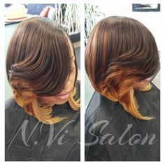 Beautiful Full Sew In and Style