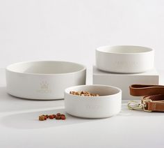 Finally, our best-selling Mason Collection is fit for your furry friends. Snack Bowls, Pet Bowls, Cute Dog Bowls, Dog Room Decor, Dog Rooms, Dog Treat Recipes, Dog Accessories, Pottery Barn, Pottery Mugs