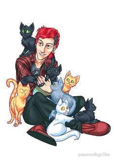 Here we see the cutest kind of animal in the world. And some cats