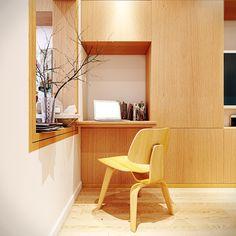 appartement petit avec coin bureau