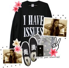 """""""so i know we got issues baby true, true, true, but i'd rather work on this with you than to go ahead and start with someone new // """" by charlotte-xoxo ❤ liked on Polyvore"""
