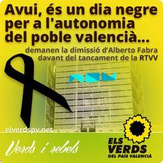 Els Verds demanen la dimissió immediata d'Alberto Fabra davant del tancament de la RTVV