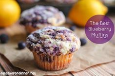 The Best Blueberry Muffins (the blueberries are cooked down to a jam so there are no chunky blueberries to bite)
