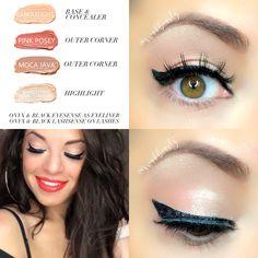 SHE'S GOLDEN FULL SENEGENCE FACE - Pink Posey, Moca Java & Sandstone Pearl Shimmer ShadowSense on lids, Onyx & Black EyeSense as eyeliner, Garnet ShadowSense on brows, Onyx & Black LashSense on lashes, Bronze BlushSense on cheeks & Bronze Translucid Powder, She's Apples LipSense, Golden Iris Gloss -  Independent LipSense/SeneGence Distributor #348931 swakbeauty.com @swakbeauty Eyeshadow Looks, Makeup Eyeshadow, Eyeliner, Eyeshadows, Diy Makeup, Makeup Tips, Beauty Makeup, Makeup Ideas, Senegence Makeup