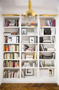 floor to ceiling built-ins.