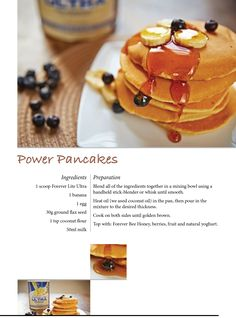 Power Pancakes with Forever Lite Ultra #ForeverTreats Available from www.katedixon.myforever.biz