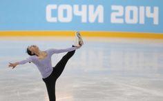 Japan's Asada Mao skates at the figure stating practice rink ahead of the 2014 Winter Olympics, Thursday, Feb. 6, 2014, in Sochi, Russia. (AP Photo/Ivan Sekretarev) (1641×1023)