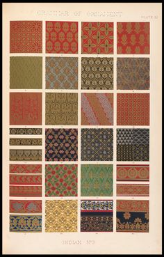 Indian textile samples