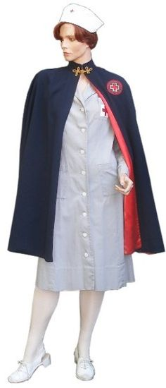 My hubby got me an authentic WWII nurses uniform a few years ago to match his authentic WWII Army uniform. I have GOT to make this cape to go with it!