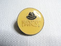 Vintage Early 80s Madness - Ska - Hat Logo Enamel Pin / Button / Badge by beatbopboom on Etsy