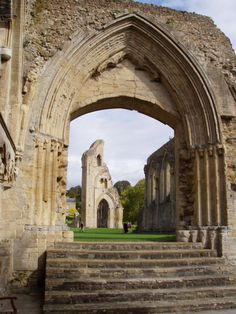 Glastonbury Abbey in Somerset had to adopt Roman ways after the Saxon King Ine conquered the area. He built a new Roman style church there.