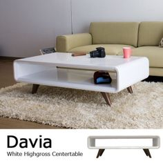 White high gloss finishing center table and davia (davia) w interior fashion chic modern Furniture, Interior, Table, Home Decor, House Interior, Shop Interior, Bed Bath And Beyond, Furniture Design, Center Table