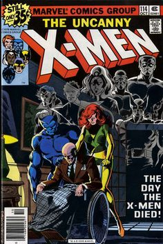 """Always found this one a bit strange. """"The day the X-Men Died!"""" - X-Men (October - Cover by John Byrne and Terry Austin Xmen Comics, Avengers Comics, Marvel Comic Books, Comic Books Art, Comic Art, Hulk Comic, Marvel Art, Marvel Heroes, Comic Book Artists"""