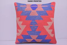 VIEW ALL DECOLIC PRODUCTS http://www.etsy.com/shop/DECOLICKILIMPILLOWS  1- Size: 20x20 Inches / 50x50 cm. 2- Material: Cotton 3- Front side: Hand Print Pattern Kilim Cotton Fabric. Weight: 3.2 LBS / Square Yard 4- Back side is cotton fabric with hidden zipper. 5- Shipping worldwide. ----------------------------------------------------------------------------------------------- You can also buy insert for this pillow cover by visiting: www.etsy.com/listing&#x...