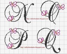 Butterfly alphabet N-Q