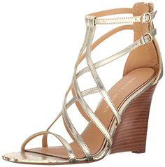 Badgley Mischka Mora Wedge Sandal, Platino - http://www.womansindex.com/badgley-mischka-mora-wedge-sandal-platino/