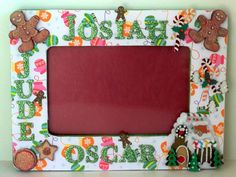 Items similar to Personalized Christmas Picture Frame Collage - Custom (Gingerbread Men Ginger Bread House) on Etsy Christmas Picture Frames, Collage Picture Frames, Christmas Pictures, Special Day, Crafty, Holidays, Unique Jewelry, Handmade Gifts, Etsy
