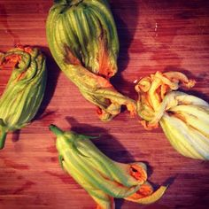 Point Rwww.farmfoodieandfitness.comeyes Bleu Cheese Stuffed Squash Blossoms