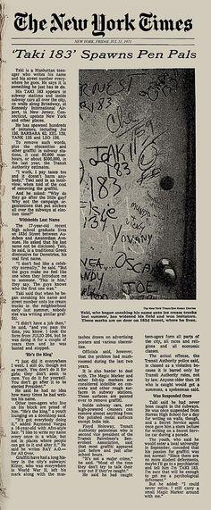 NY Graffiti 70s