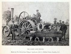 of Stileman's works, Wickford. 1858 Thomas Churchman Darby patented a horse hoe. Steam Tractor, Work Horses, Old Tractors, Steam Engine, Digger, Locomotive, Old Cars, Steampunk, Old Things