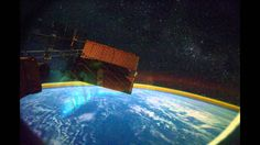 Great View of Northern Lights from Space - Aurora Borealis (1080p HD)