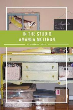 How organizational process influences the artists studio work with Amanda McLenon #hkpowerstudio #inthestudio #studioorganizing