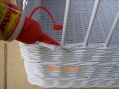 Zatloukaná uzavírka - Papírové pletení