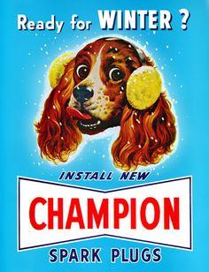 Plan59 :: Vintage Ads :: Mid-Century Modern :: Champion Spark Plugs, 1949