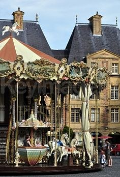Merry Go Round Stock Photo in Charleville-Mezieres in France