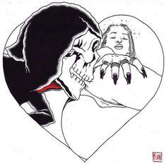 Hand Poked Tattoo, Danse Macabre, Lowbrow Art, Skull Art, Erotic Art, Dark Art, Art Tutorials, Cute Drawings, Blackwork