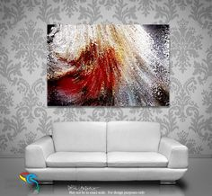 "Art Room Inspiration- Genesis 1:26. Created To Become Like Christ. Modern Christian Art. Limited Edition Art Signed by Mark Lawrence. Inspiring, big 81""x54"" art on canvas. Ultra hand embellished with rich brush strokes by the artist"