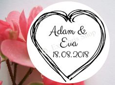 "Wedding stamp ""Heart"", personalized stamp, custom wedding stamp, wedding, save the date stamp, wedding DIY, stamp, 809"