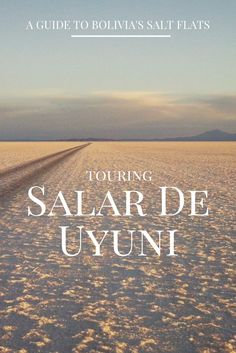 If you're planning a trip to Bolivia, chances are you'll want to experience the world's largest salt flat; Salar de Uyuni.