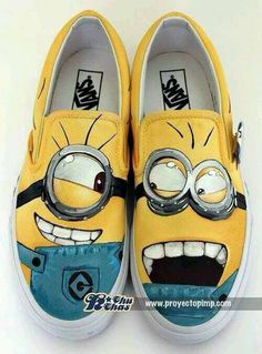 minion shoes @Tracey Fox Fox Fox Hansen