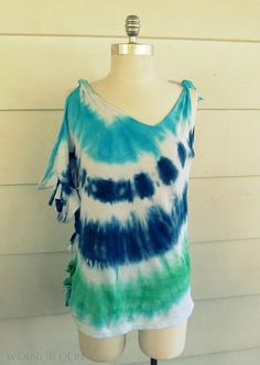 iLoveToCreate Blog: Altered Tie-Dye T-shirt Challenge featuring Anne of Wobisobi