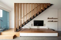 Ideas Open Stairs Architecture Woods For 2019 Open Stairs, Floating Stairs, Staircase Railings, Modern Staircase, Bannister, Staircases, Basement Stairs, House Stairs, Wood Stairs