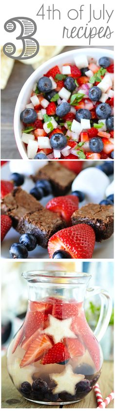 There's still time to make that shopping list, run to the market and whip up something festive for the 4th! Looking for 4th of July recipes? Here are a few of my favorites this year that I spotted on Pinterest. Which will you make? Blueberry, Strawberry & Jicama Salsa :: Fruit and Brownie Kebabs :: Red, White, and …